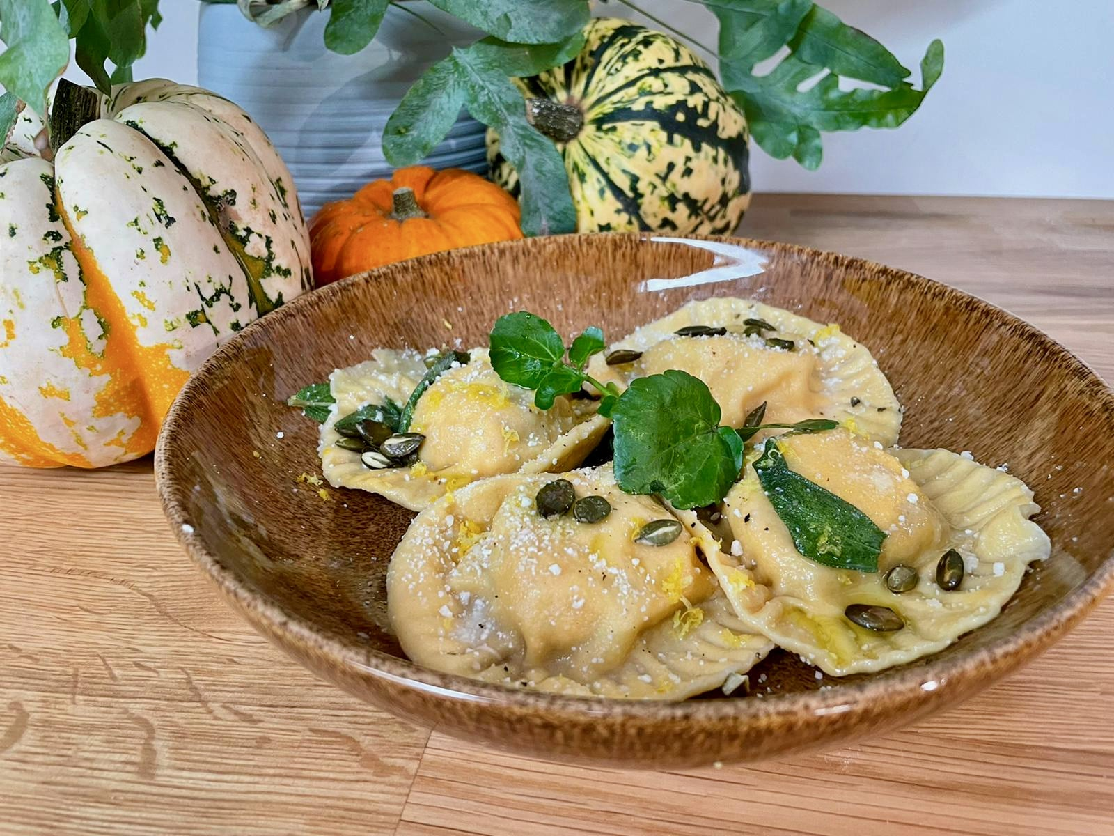 Recept på ravioli med pumpa